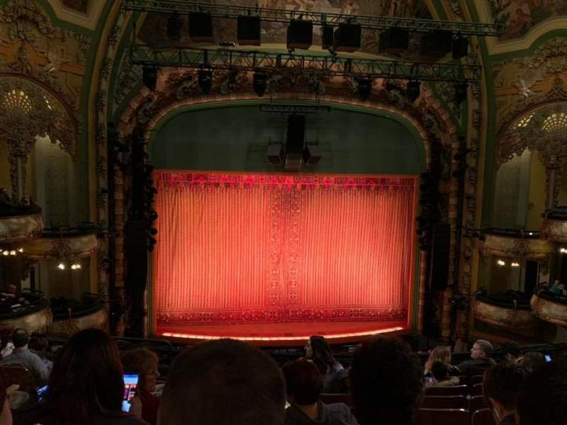 Seating view for New Amsterdam Theatre Section Mezzanine C Row HH Seat 115