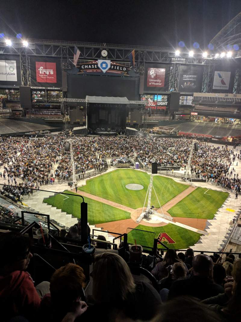 Seating view for Chase Field Section 317 Row 11 Seat 18