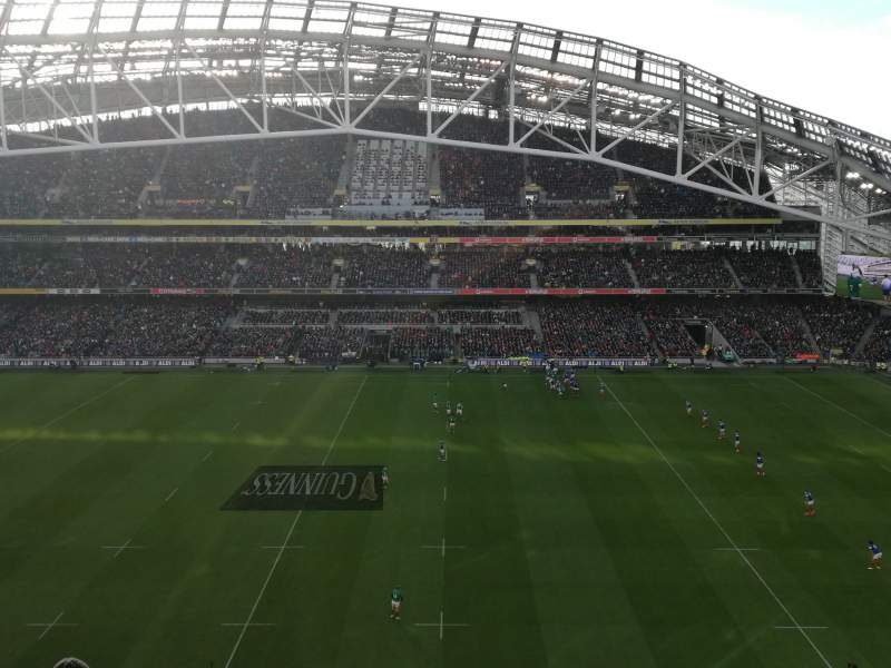 Seating view for Aviva Stadium Section 504 Row H Seat 10