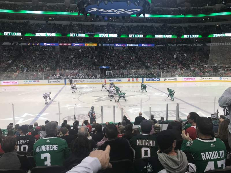 Seating view for American Airlines Center Section 107 Row O Seat 6