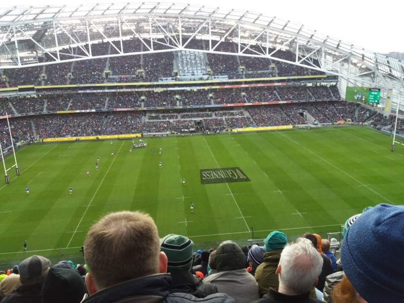Seating view for Aviva Stadium Section 505 Row S Seat 21