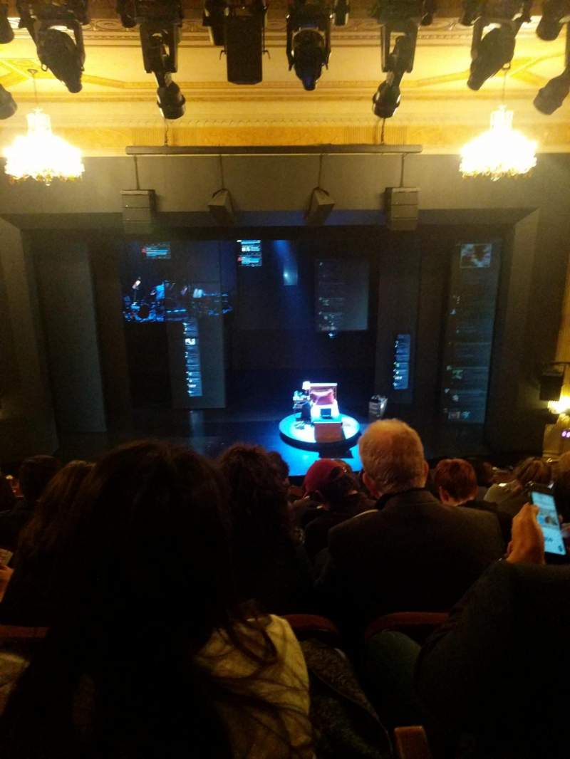 Seating view for Music Box Theatre Section Mezzanine C Row H Seat 107