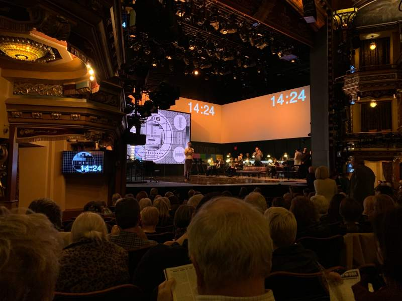 Seating view for Belasco Theatre Section Orchestra Left Row L Seat 19