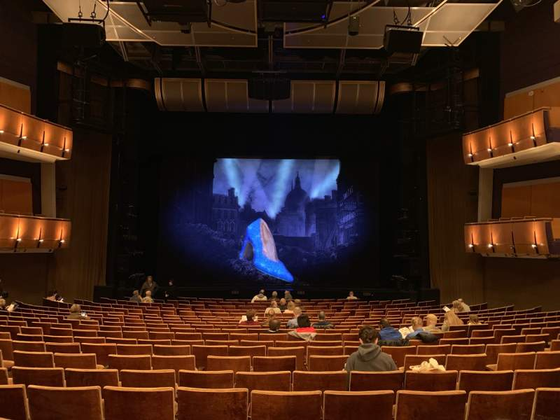 Seating view for Ahmanson Theatre Section Orcastra Row T Seat 28