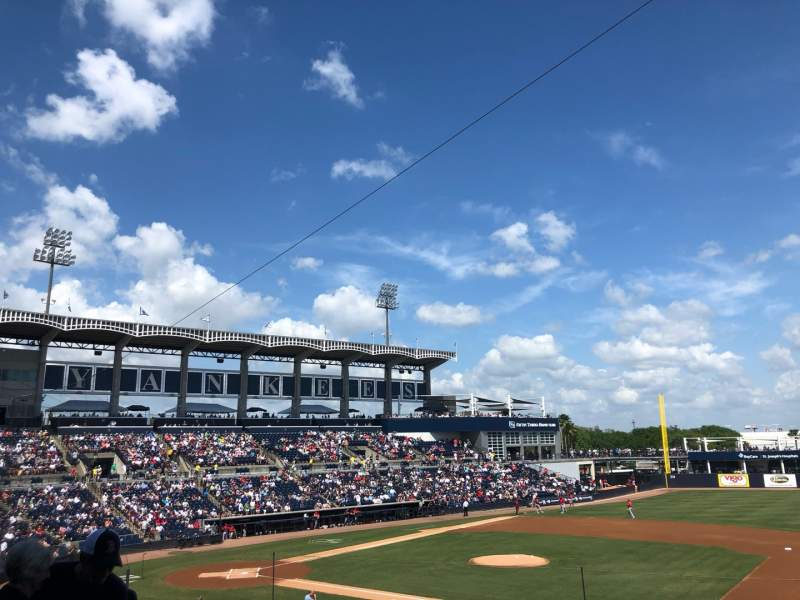 Seating view for George M. Steinbrenner Field Section 205 Row D Seat 13
