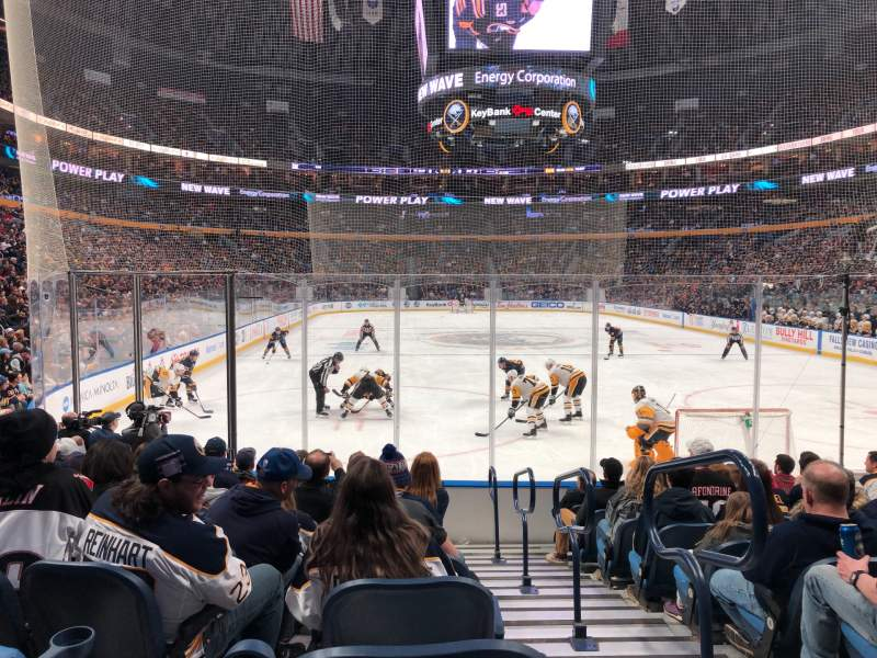 Seating view for KeyBank Center Section 112 Row 10 Seat 1,2