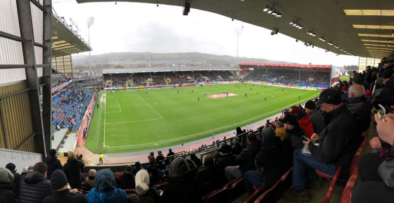 Seating view for Turf Moor Section 9 Row R Seat 234