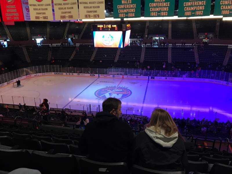 Seating view for Nassau Veterans Memorial Coliseum Section 222 Row 11 Seat 7