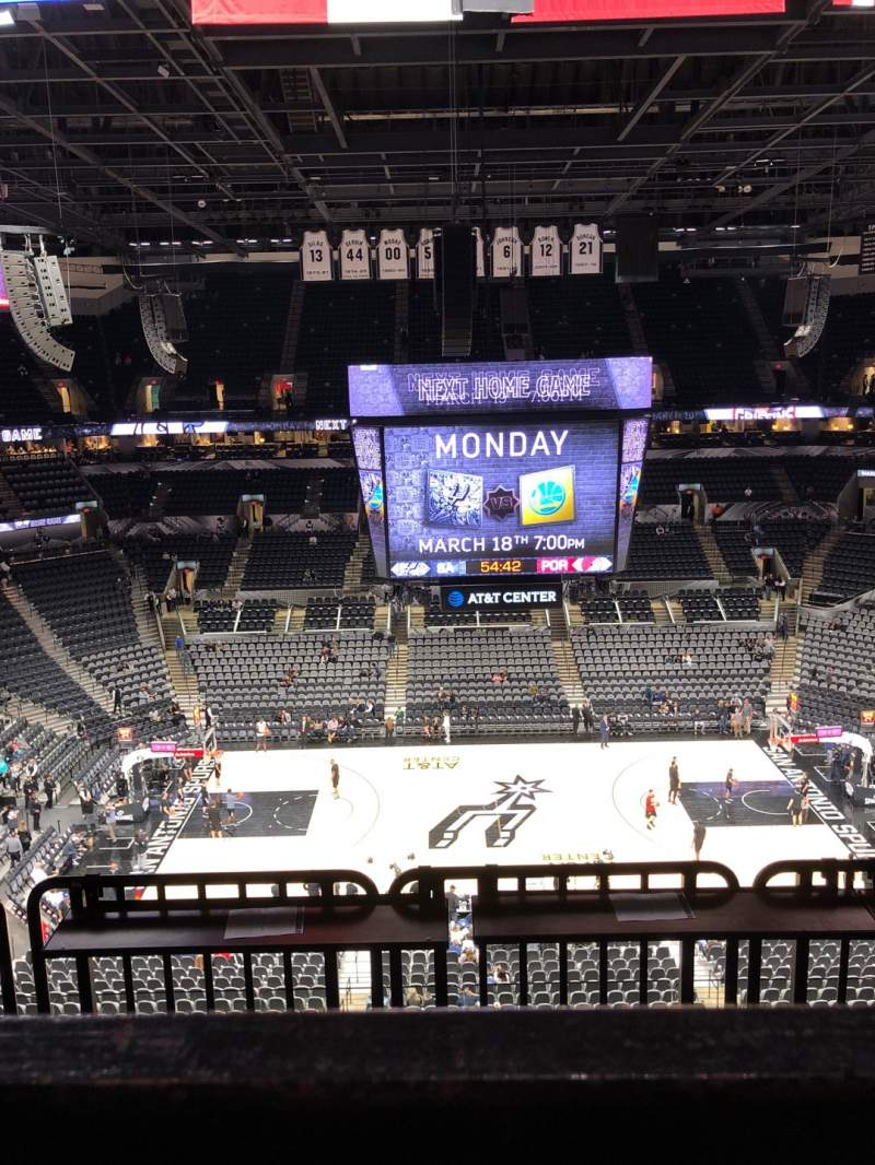 Seating view for AT&T Center Section 208 Row 5 Seat 15