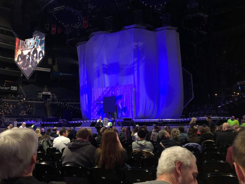 Seating view for Nationwide Arena Section Floor 1 Row R Seat 5