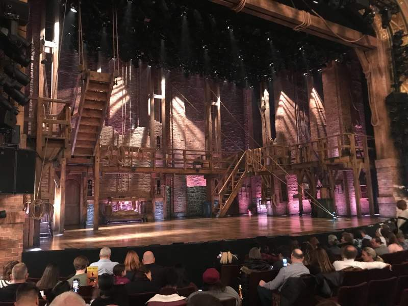 Seating view for Richard Rodgers Theatre Section Orchestra L Row H Seat 9
