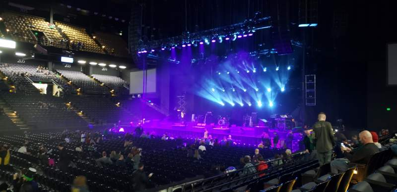 Seating view for Royal Farms Arena Section 110 Row G Seat 10