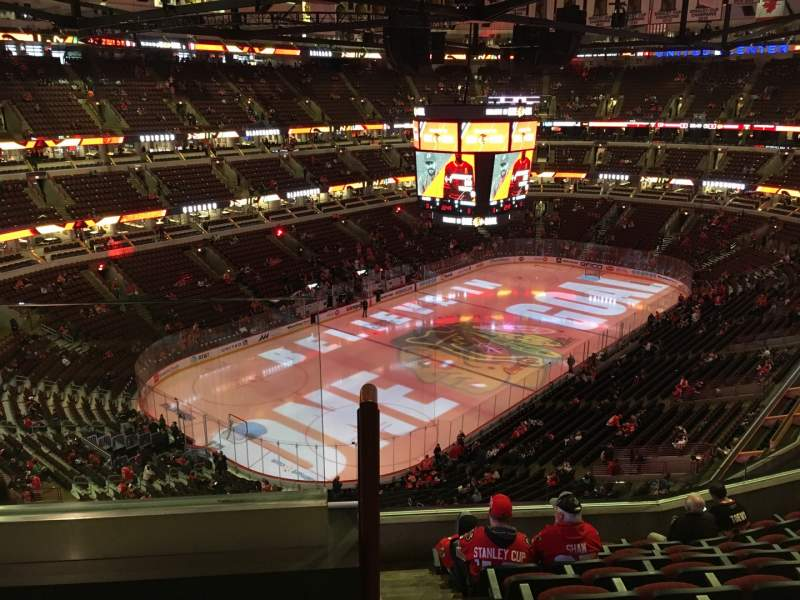 Seating view for United Center Section 322 Row 9 Seat 20