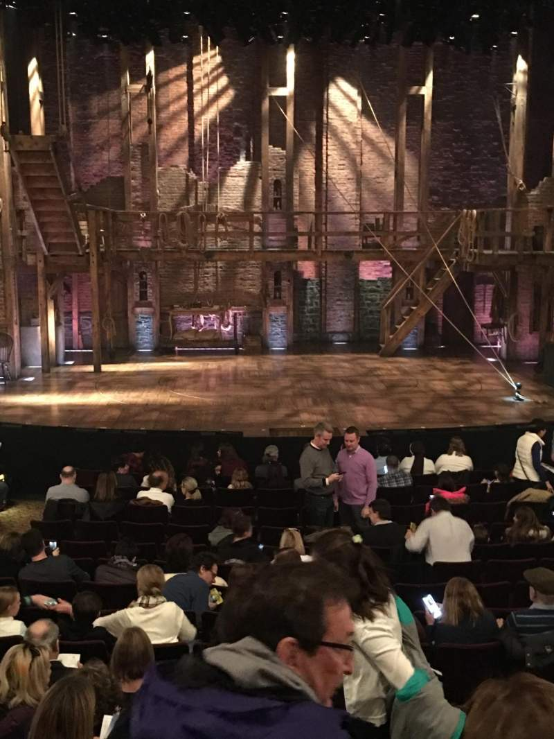 Seating view for Richard Rodgers Theatre Section Orchestra C Row P Seat 108