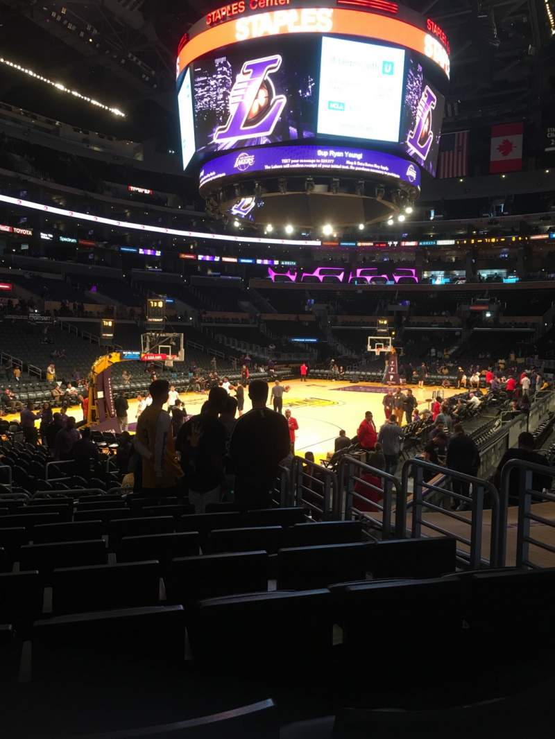 Seating view for Staples Center Section 105 Row 12 Seat 5