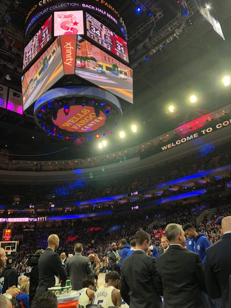Seating view for Wells Fargo Center Section 103 Row BB Seat 1