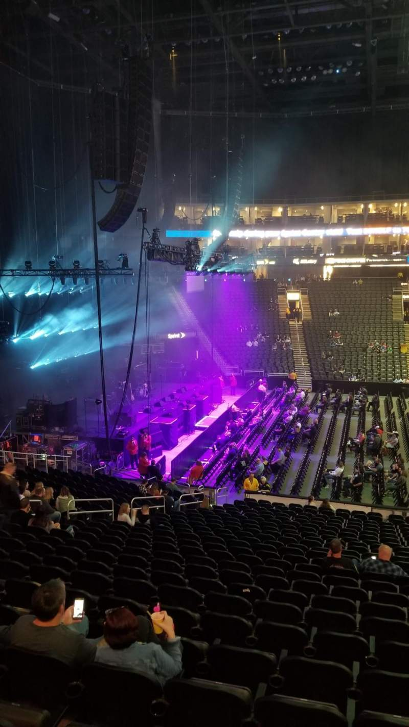 Seating view for Sprint Center Section 107 Row 25 Seat 5