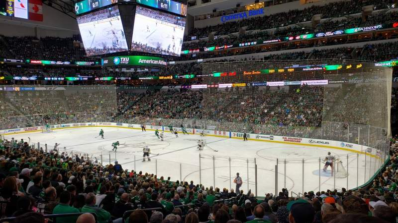 Seating view for AMERICAN AIRLINES CENTER Section 115 Row X Seat 16
