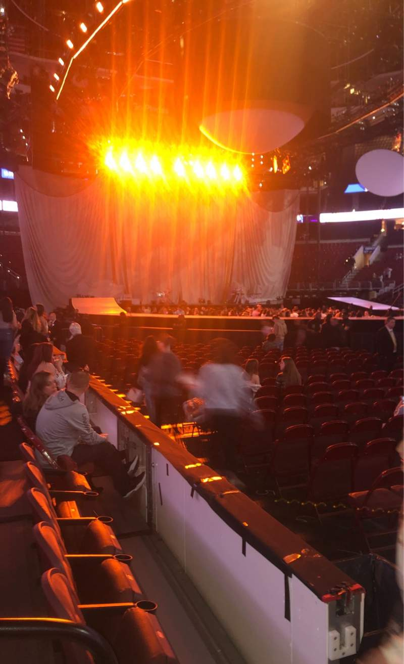 Seating view for Wells Fargo Center Section 103 Row 3 Seat 1
