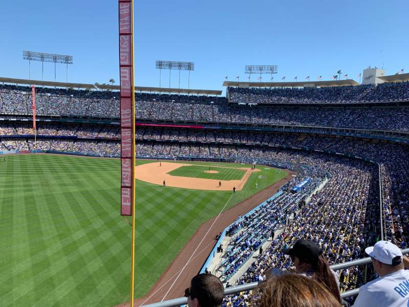 Seating view for Dodger Stadium Section 55RS Row C Seat 11