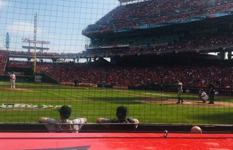 Seating view for Great American Ball Park Section 117 Row F Seat 6