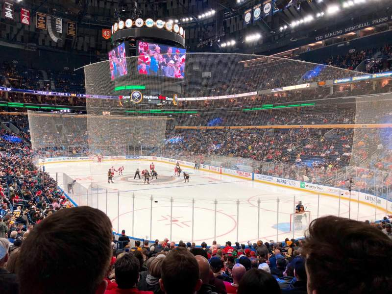 Seating view for KeyBank Center Section 101 Row 19 Seat 19/20