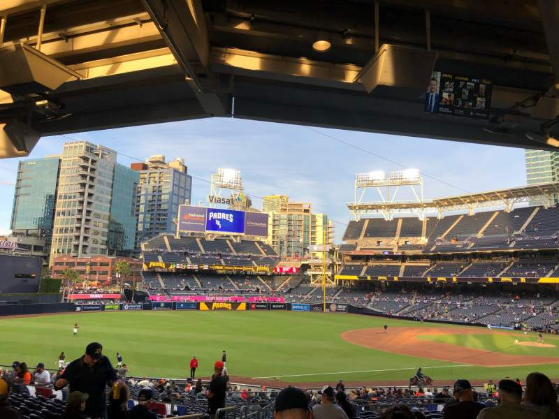Seating view for PETCO Park Section FR118 Row 39 Seat 19