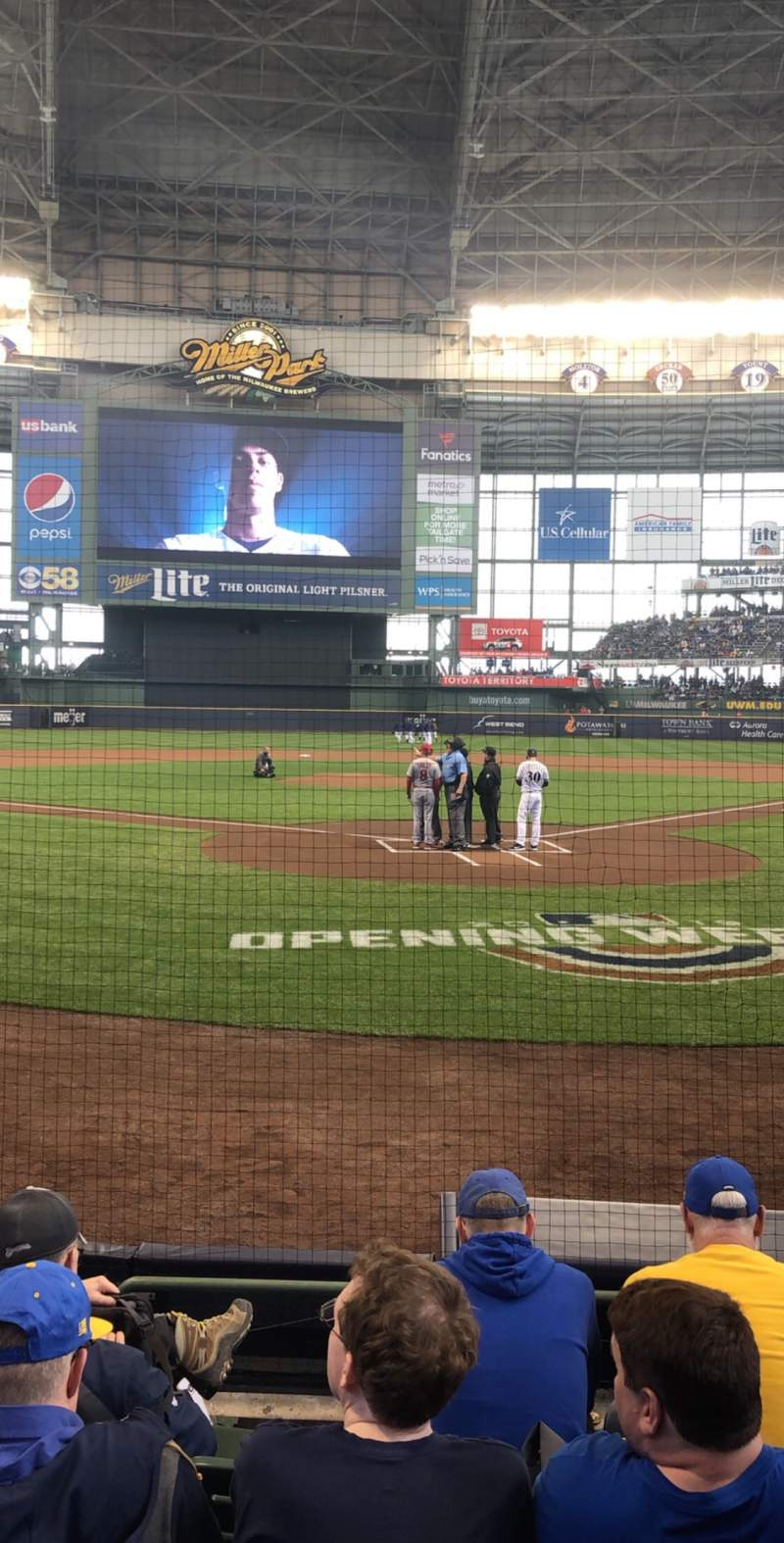 Seating view for Miller Park Section 118 Row 5 Seat 9