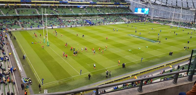 Seating view for Aviva Stadium Section 509 Row C Seat 20