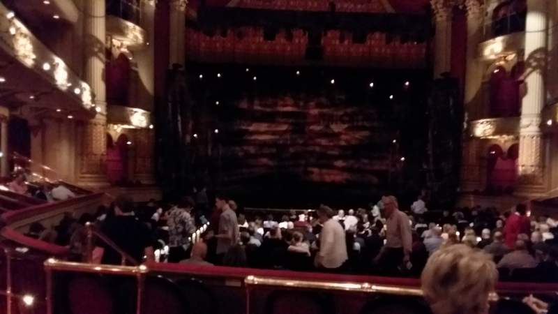 Seating view for Academy of Music Section Parquet Circle E Row V Seat 112