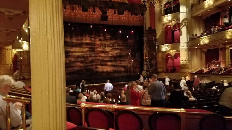 Seating view for Academy of Music Section Parquet Circle F Row V Seat 13