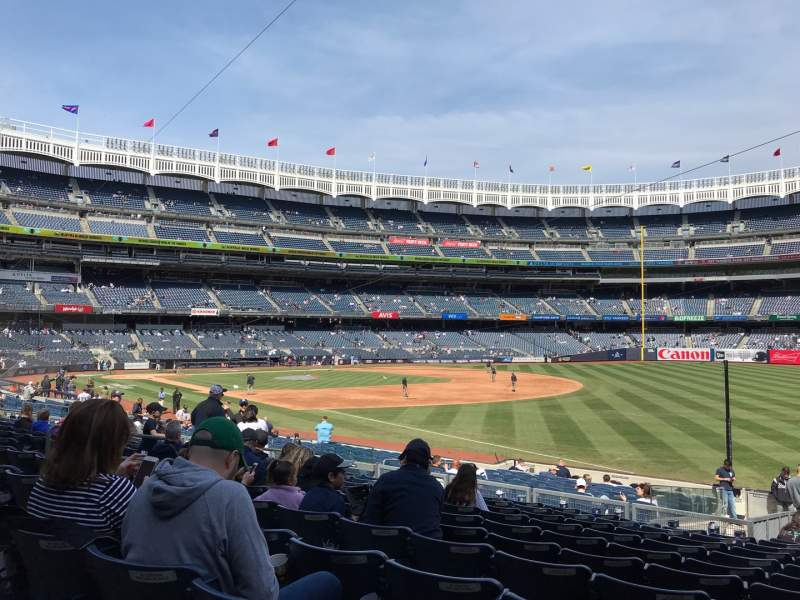 Seating view for Yankee Stadium Section 111 Row 22 Seat 2