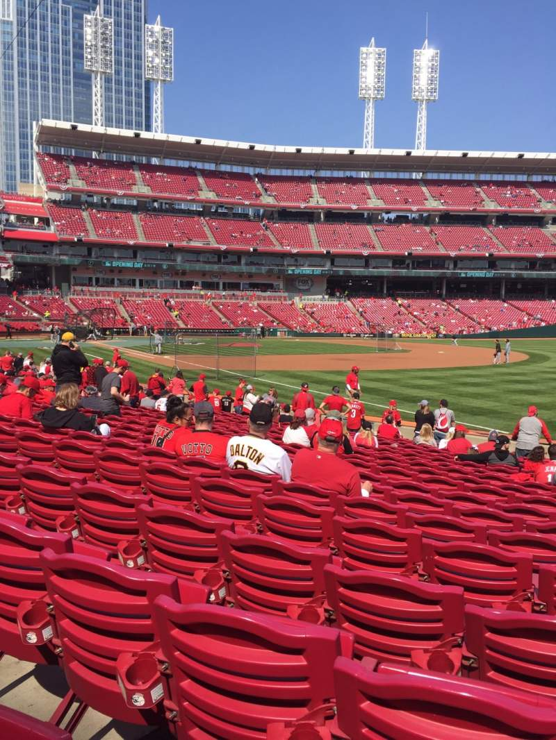 Seating view for Great American Ball Park Section 135 Row R