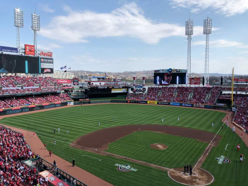 Seating view for Great American Ball Park Section 421 Row A Seat 12