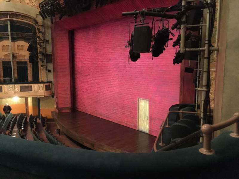 Seating view for Shubert Theatre Section Mezzanine R Row B Seat 28