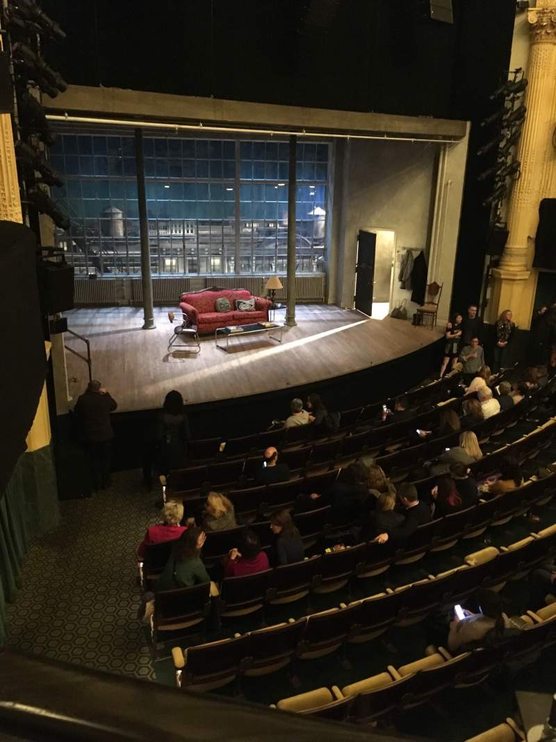 Seating view for Hudson Theatre Section Balcony L Row A Seat 15