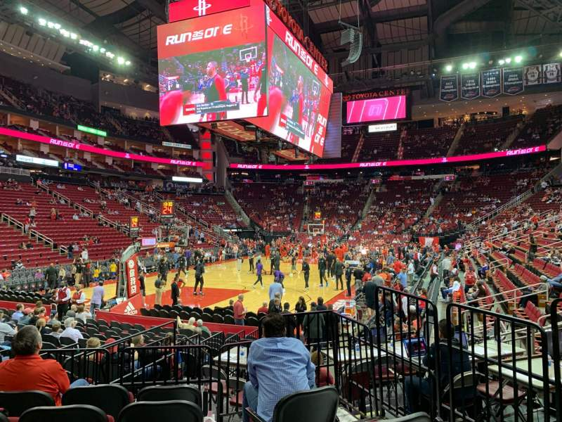Seating view for Toyota Center Section 125 Row 9 Seat 2