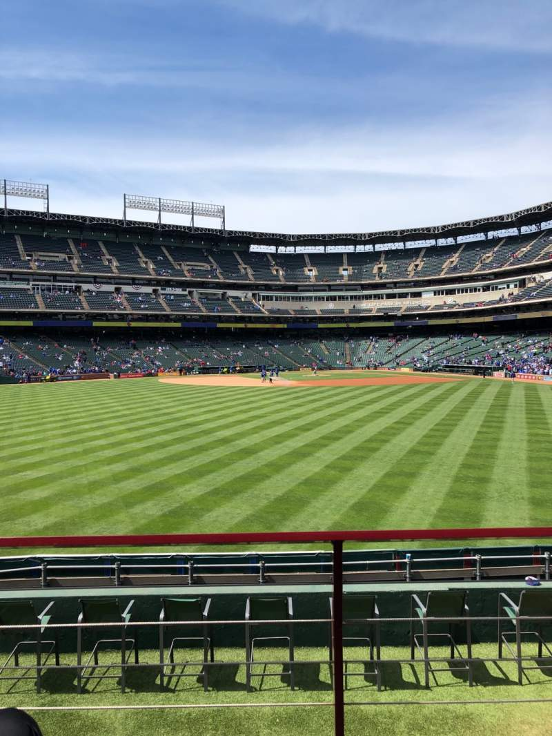 Seating view for Globe Life Park in Arlington Section 54 Row 11 Seat 7