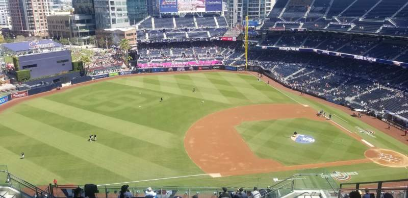 Seating view for PETCO Park Section UR316 Row 20 Seat 7