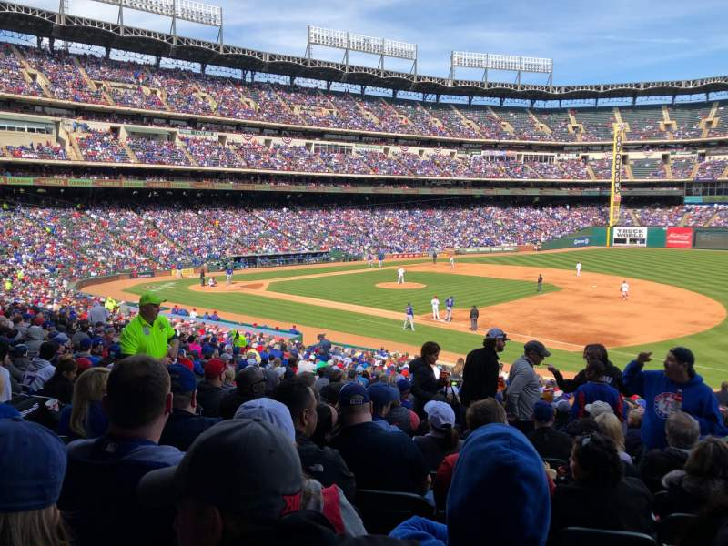 Seating view for Globe Life Park in Arlington Section 36 Row 32 Seat 9