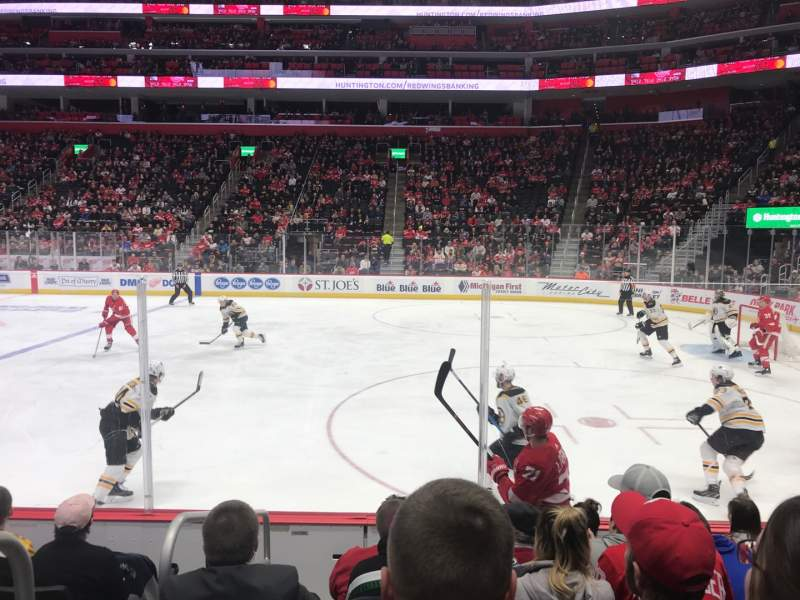 Seating view for Little Caesars Arena Section 119 Row 6 Seat 15