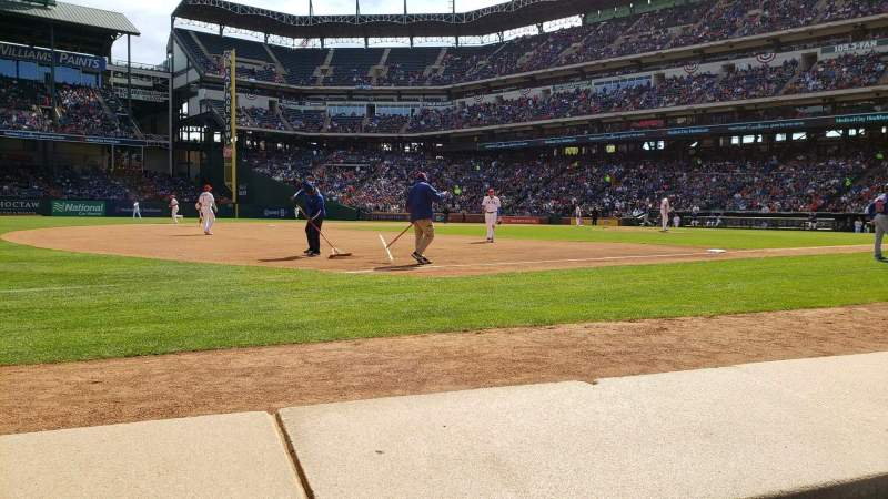 Seating view for Globe Life Park in Arlington Section Commissioners Box Row 1 Seat 11