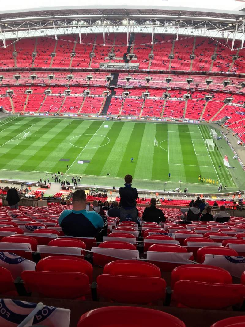 Seating view for Wembley Stadium Section 550 Row 32 Seat 330
