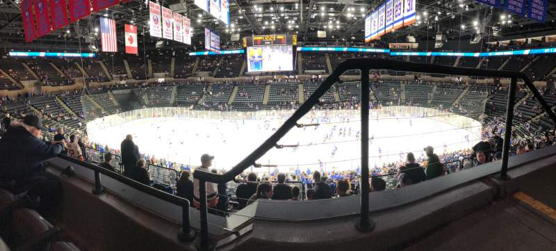 Seating view for Nassau Veterans Memorial Coliseum Section 223 Row 2 Seat 1