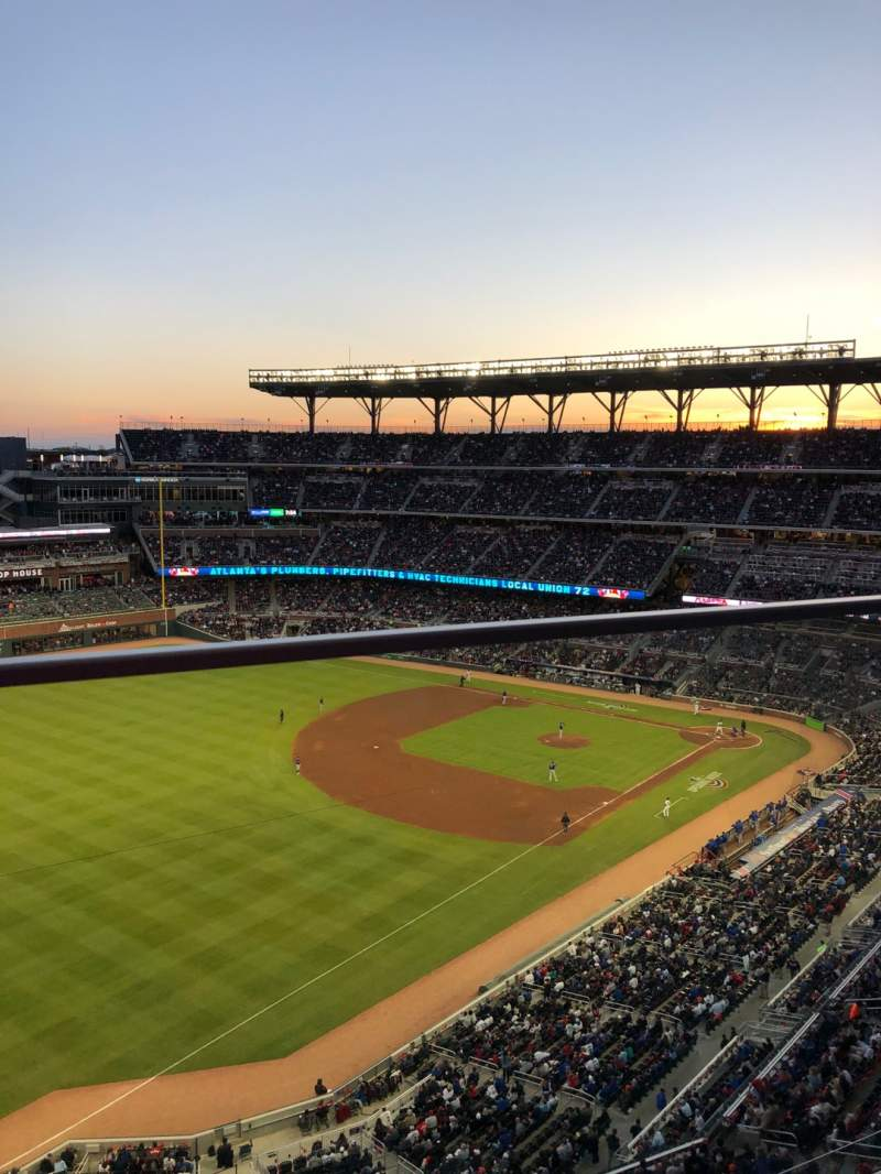 Seating view for SunTrust Park Section 442 Row 1 Seat 5