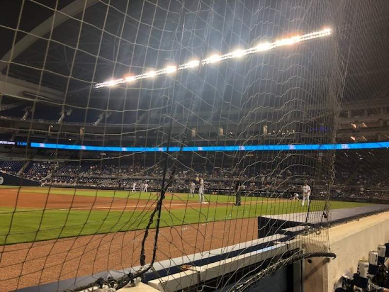 Seating view for Marlins Park Section FL 10 Row AA Seat 1