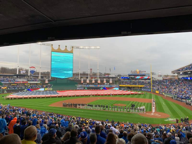 Seating view for Kauffman Stadium Section 224 Row MM Seat 7