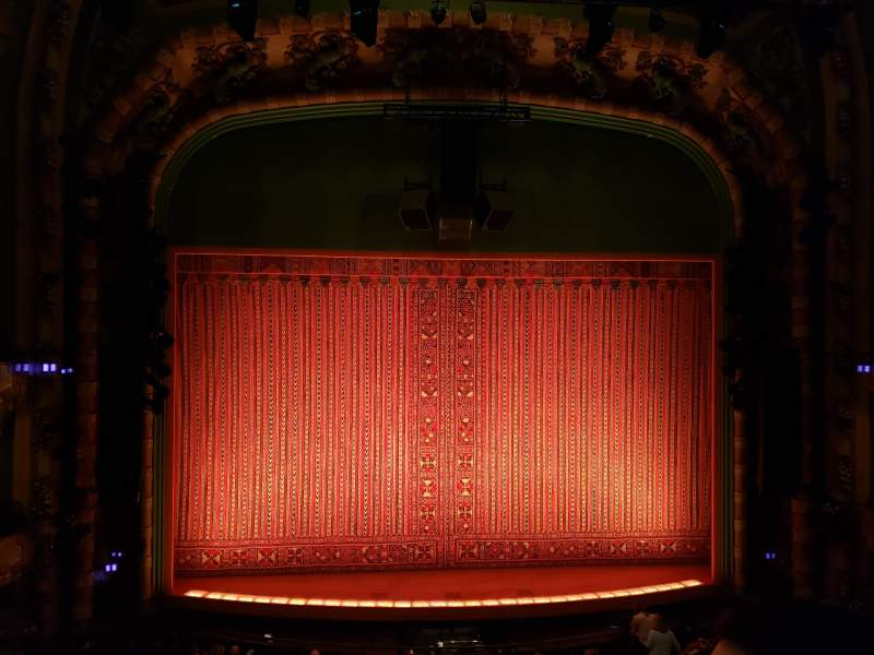 Seating view for New Amsterdam Theatre Section Mezzanine C Row BB Seat 111
