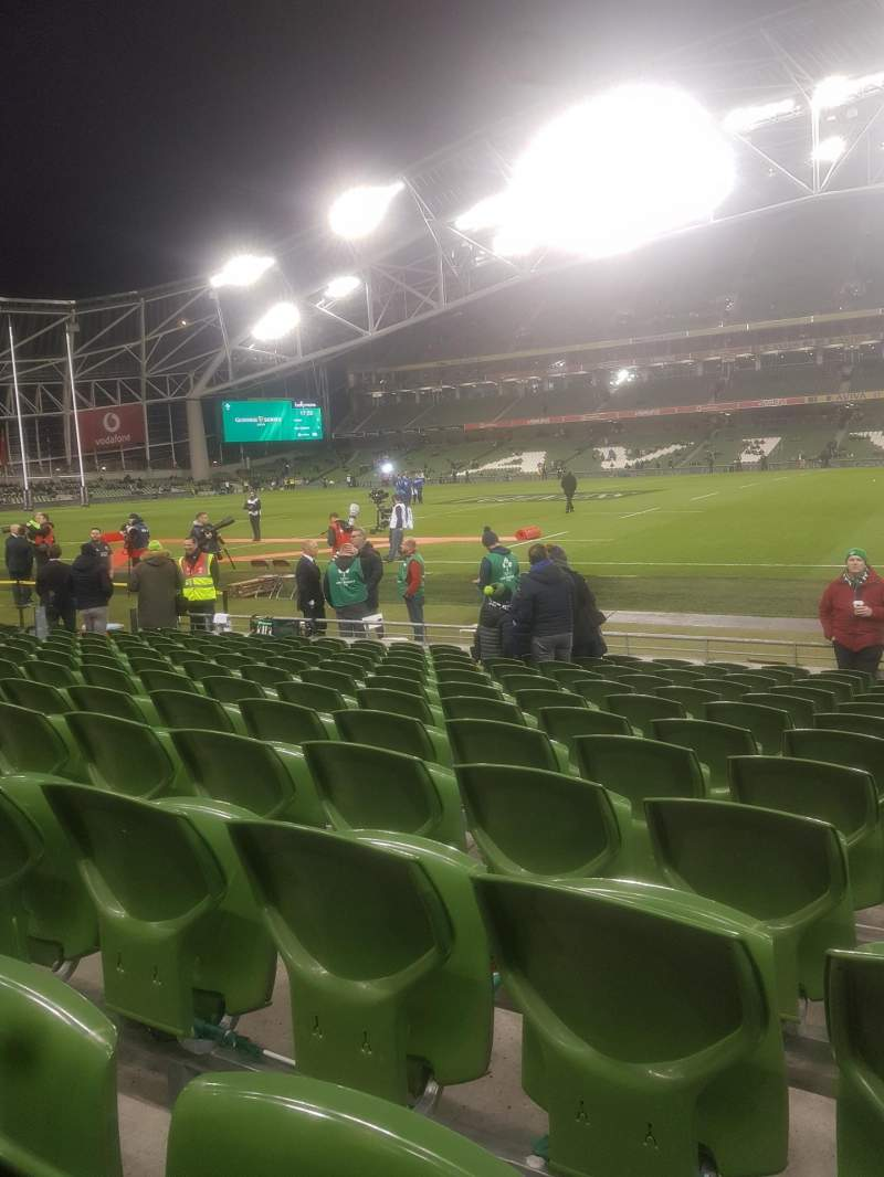 Seating view for Aviva Stadium Section Block 123 Row M Seat 17