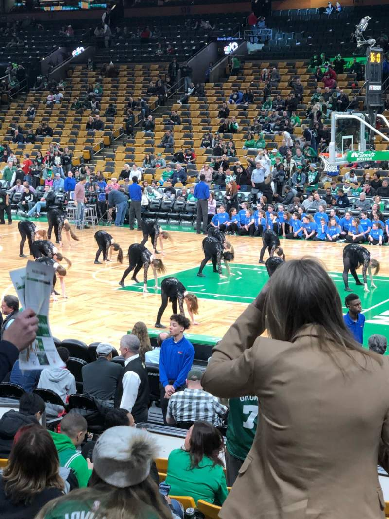 Seating view for TD Garden Section LOGE 20 Row 11 Seat 9